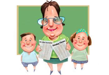 teacher with kids